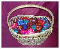 Яйца пасхальные расписные деревянные