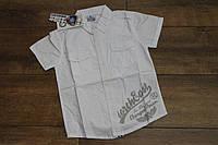 Катоновая рубашка для мальчиков 4- 10 лет