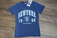 Футболка под- джинс - для мальчиков 8- 10 лет