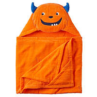 Полотенце с капюшоном Оранжевый Монстрик велюр-махра Carters, 127х68см