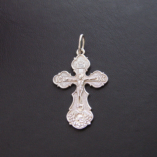Срібний хрест з срібла 925 проби №9с