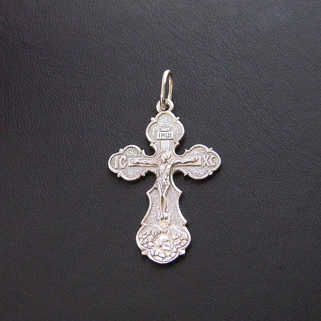 Серебряный крест №9с, фото 1