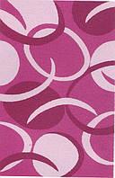 Высоковорсный  пушистый ковёр First Shaggy 1561 темнорозовый