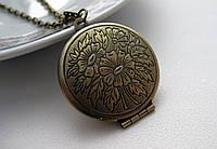 Винтажный медальон для фотографии, медальон для влюбленных
