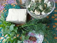 Растительный продукт Тофу с чесноком и укропом, 1кг