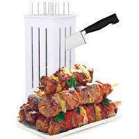 Нанизыватель шашлыка. Приспособления для одевания мяса на шампуры Brochette Express