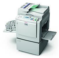 Настольный цифровой дупликатор Ricoh Priport DX 3443 с системой трафаретной печати.