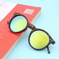 Модные очки ретро, панк стиль, зеленый цвет, леопард