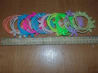 Резинки-браслеты силиконовые с ушками фосфорные