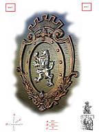 Кованые эмблема льва