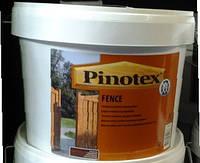 Пропитка PINOTEX FENCE для заборов и садовых построек из пиленой древесины 10 л.