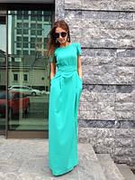 Платье длинное из креп-дайвинга
