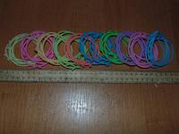 Резинки-браслеты силиконовые с бантиками фосфорные