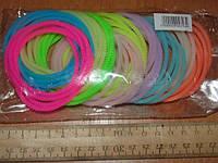 Резинки-браслеты силиконовые цветные фосфорные