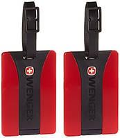 Бейджик для багажа WENGER, красный