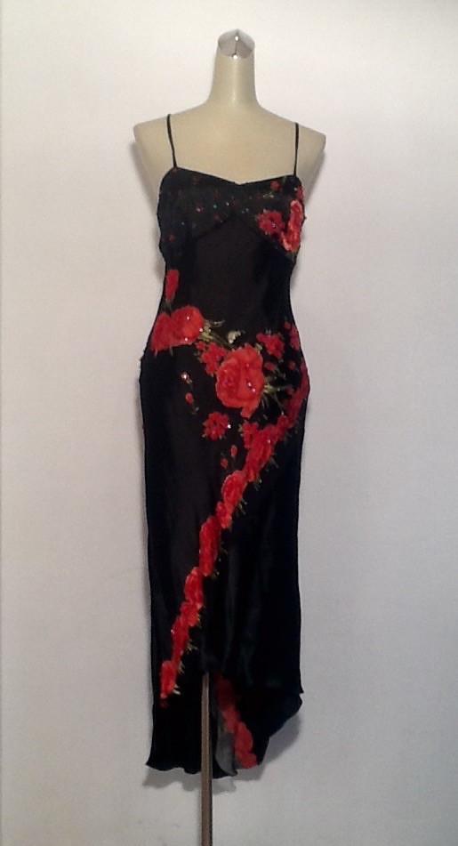 Платье женское летнее S&D нарядное шелковое со шлейфом вечернее яркое модное стильное