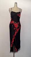 Платье женское летнее S&D нарядное шелковое со шлейфом вечернее яркое модное стильное, фото 1