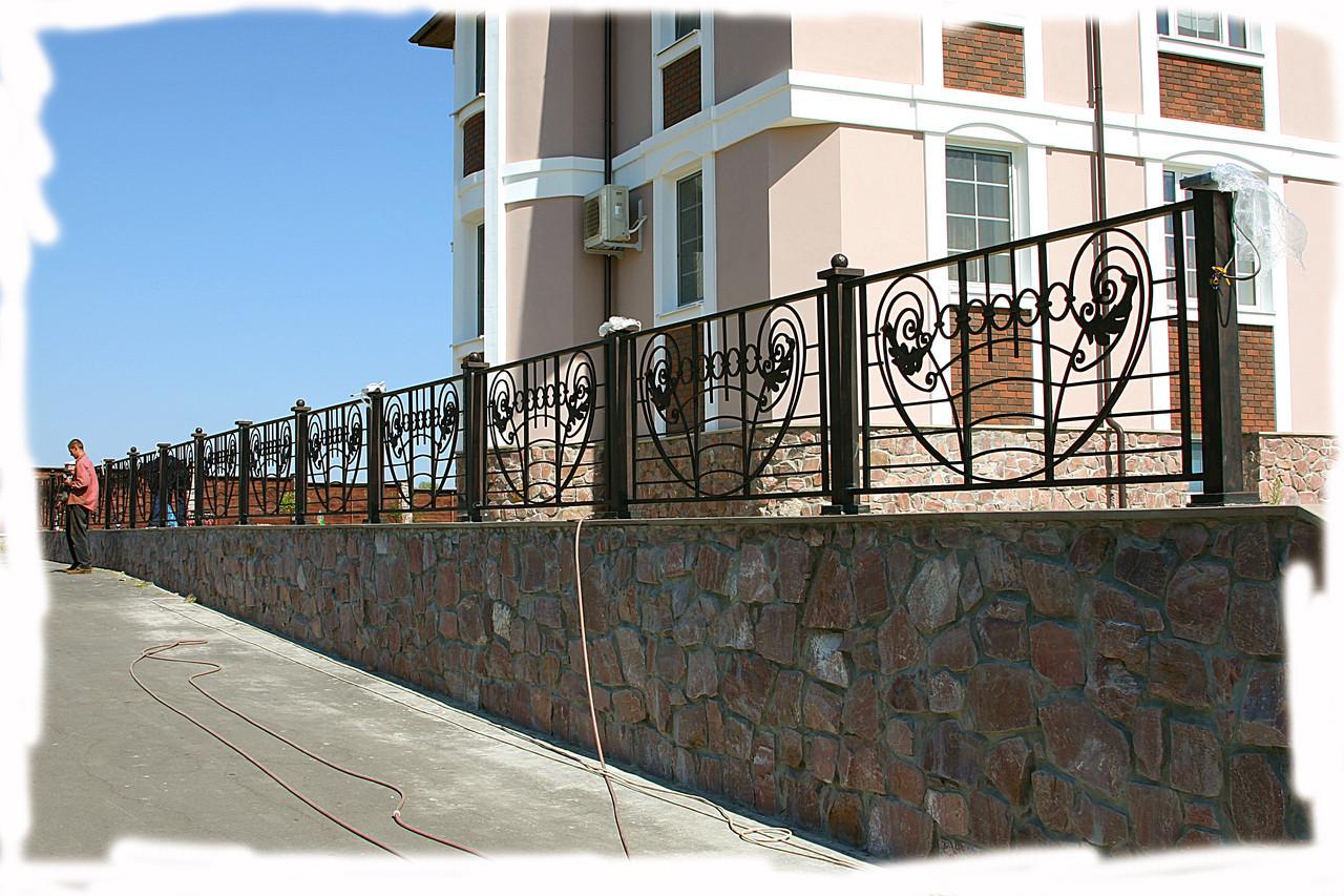 Забор металлический кованый