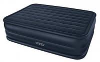 Надувная кровать Intex 66718 встроен. насос. 220В  (152x203x56см)