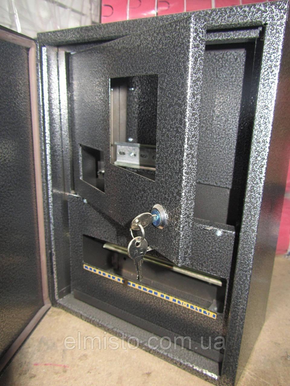 Щит уличный герметичный антивандальный под 1ф электросчетчик 2-х дверный