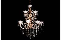Люстра хрустальная на двенадцать ламп LS1509-8+4