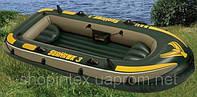 Лодка Intex 68349 3-х местная+весла(пластик) +насос
