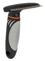 Trixie TX-23781 расчёска-грабли металическая для  короткошёрстных собак и кошек  10х15см/1,5см Трикс