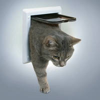 Trixie  TX-38601  дверца для кота 2-Way Cat Flap  (21 × 21 см,2 магнита)