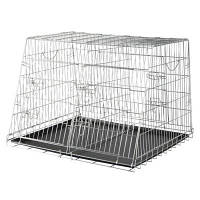 Trixie TX-3930 Клетка для собак оцинкованная двойная для автоперевозок