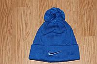 Шапка Nike с помпоном. Разные цвета
