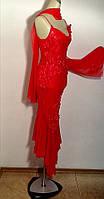 Платье Sempre шелковое красное