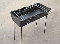 Мангал-чемодан на 12 шампуров ( 2 мм)