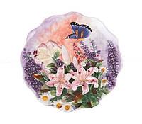 Декоративная тарелка Бабочка в лилиях 20 см 59-564