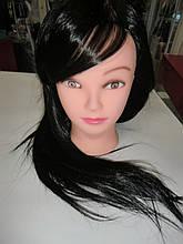 Болванка искусственная (парикмахерская учебная голова)Брюнетка