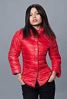 Женская демисезонная куртка. Код модели К-70-12-16. Цвет красный.
