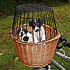 Trixie  TX-2806  Bicycle Basket -корзина для велосипеда с сеткой для собак 44х48х33см