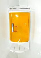 Полочка для ванной угловая пластик