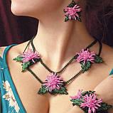 Об'ємні квіти в прикрасах і аксесуарах з бісеру, фото 7
