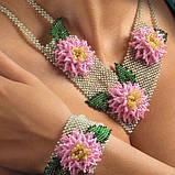 Об'ємні квіти в прикрасах і аксесуарах з бісеру, фото 8