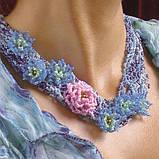 Об'ємні квіти в прикрасах і аксесуарах з бісеру, фото 9