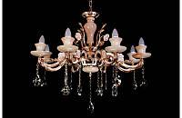 Люстра хрустальная на восемь ламп LS6716-8