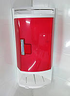 Полочка угловая пластик для ванной комнаты