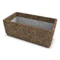Вазон бетонный Пролисок малый галька Арт Бетон