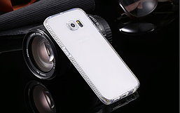 Чехол TPU для Samsung Galaxy S6 Edge Plus со стразами