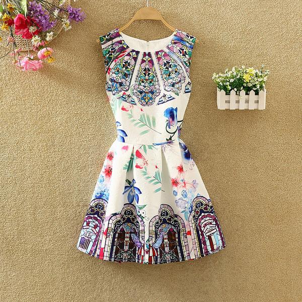 Платье женское жаккардовое с абстрактным рисунком