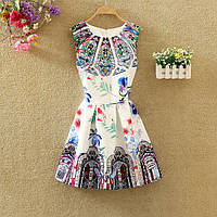 Платье женское жаккардовое с абстрактным рисунком, фото 1