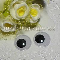 Глазки для игрушек, без ресничек, подвижные, 25 мм (1 пара)