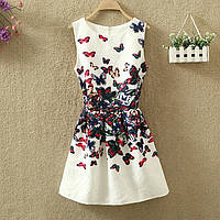 Платье женское жаккардовое с бабочками