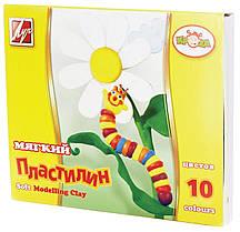 Пластилин мягкий Кроха Луч 10 цветов,стек 12С875-08