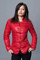 Женская демисезонная куртка. Код модели К-72-12-16. Цвет красный.